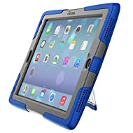 UZBL ShockWave Ultra-Protective 2017 iPad Case with Stand and Screen Protector, Blue