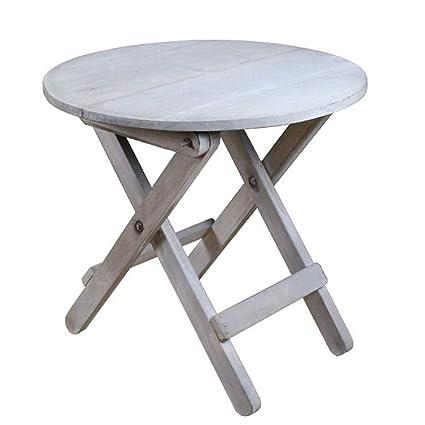 WZHFOLDINGTABLE Rustique Vieux Table Pliante en Bois Petite Table ...