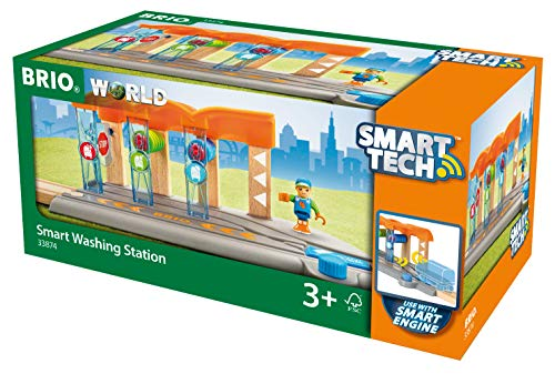 Brio 33874 World - Smart Tech Railway - Train Washing Station - Smart Railway Train Accessory, Multi