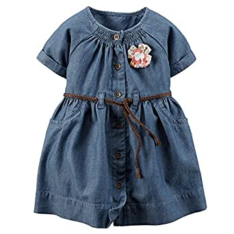 f0a9f841c7 Image Unavailable. Image not available for. Color  Carter s Baby Girls  Denim  Dress ...