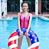 Free Swimming Baby Inflatable American Flag Swimming Pool and Lake Tube Float, Pool Toys for Swimming Pool Party Decorations (1 Pack, 90#)