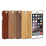 iPhone 6s Case, GMYLE Snap Cover Wooden for iPhone 6 / 6s – Bamboo Wood Pattern Slim Hard Back Case