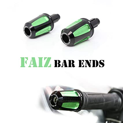 Amazon.com: Green FAIZ CNC Bar End Weights For Kawasaki ZX ...