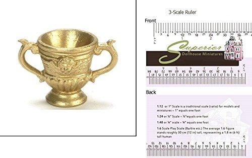 Golden Urn - Dollhouse Miniature Roma Urn Gold 1pc