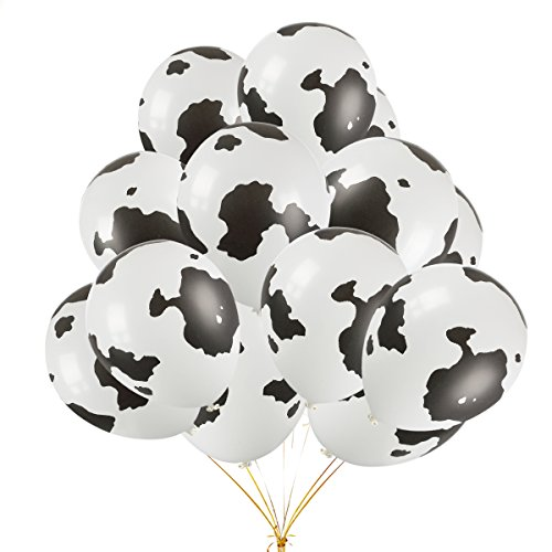 - 50PCS 12 Inch Funny Cow Print Latex Balloons Perfect For Children's Birthday Party Supplies Decorations