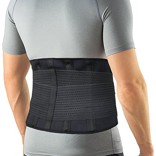 Back Brace Lumbar Support Belt(M Measurement) with Dual Adjustable Straps for Lower Back Pain Relief & Treatment of Sciatica, Scoliosis, Herniated Disc or Degenerative Disc Disease by Featol – DiZiSports Store