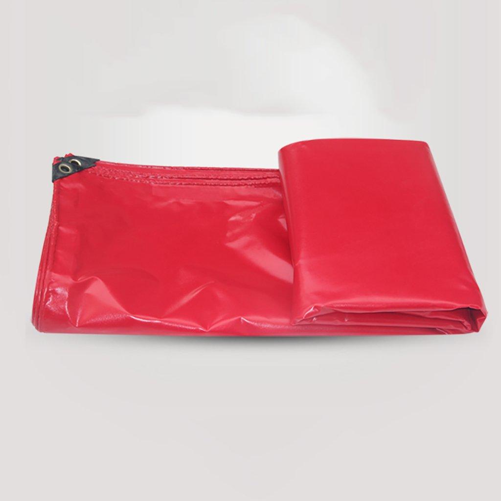 タータリン高強度厚いPVC Pp防水トラック区画貨物ヤードヤードテントクロス屋外0.3 mm 450 g/m2赤12サイズ (サイズ さいず : 4*8m) B07DCQQ32D 4*8m  4*8m