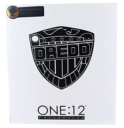 Judge Dredd One:12 Collective Action Figure Black and White NYCC Exclusive by Mezco