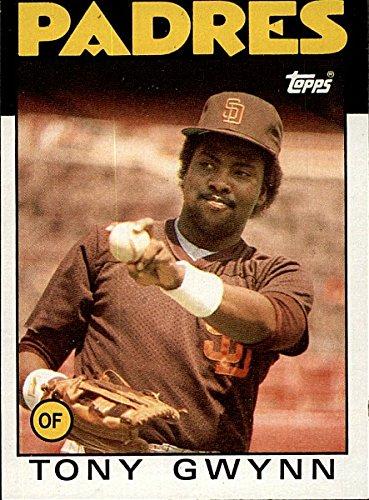 1986 Topps Tony Gwynn San Diego Padres Card 10 At