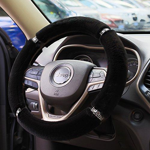 [해외]Valleycomfy 푹신한 따뜻한 스티어링 휠 커버/Valleycomfy Fluffy Warm Steering Wheel Cover