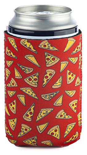 Funny Guy Mugs Pizza Collapsible Neoprene Can Coolie - Drink Cooler