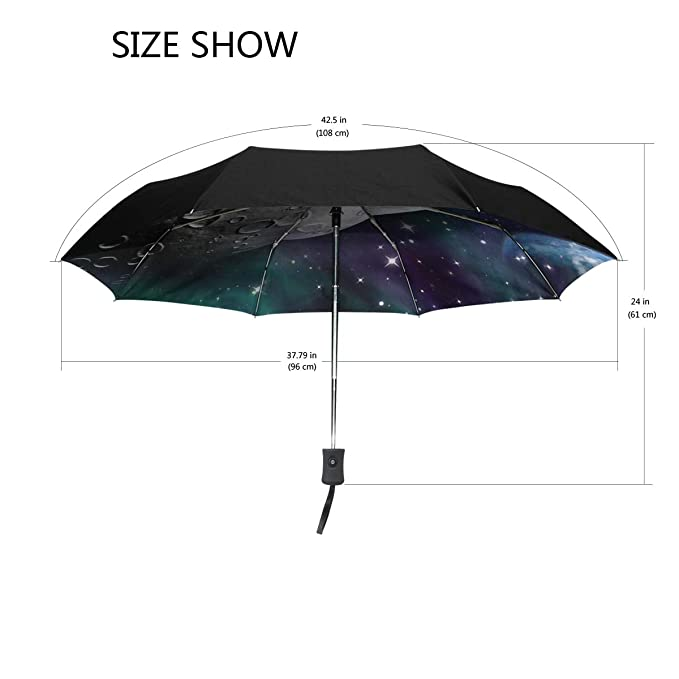 2f7ee7a21b9b Amazon.com: Jereee Space Planet Compact Travel Umbrella, Outdoor ...