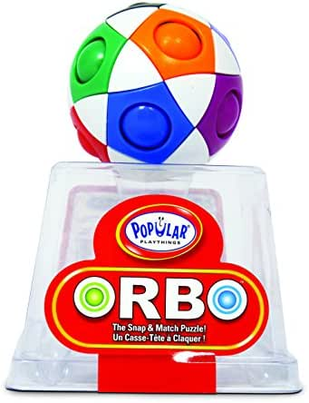 Popular Playthings Orbo by PlaSmart, The Snap and Match Puzzle, Brain Teaser, Fidget Ball, Play to Enhance Memory, Processing Speed, and Concentration, Ages 4 and Up