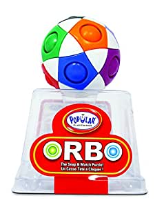 Orbo by PlaSmart, The Snap And Match Puzzle, Brain Teaser, Fidget Ball, Play to Enhance Memory, Processing Speed, and Concentration, Ages 4 and Up