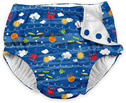 i play. Baby Boys' Snap Reusable Absorbent Swim Diaper