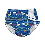 i play. Baby Boys' Snap Reusable Absorbent Swimsuit Diaper, Royal Blue Sea Friends, 18 Months