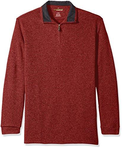 Haggar Sleeve Brushed Quarter Sweater