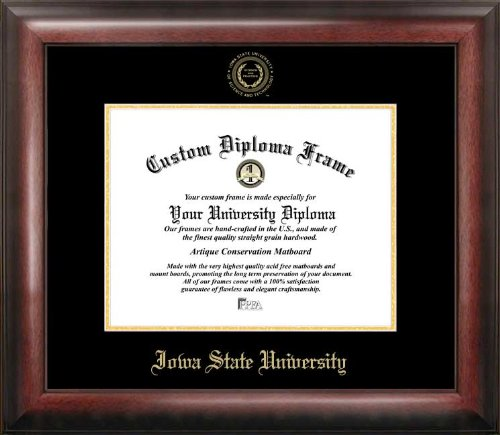Campus Images IA998GED Iowa State University Diploma Frame, 8.5