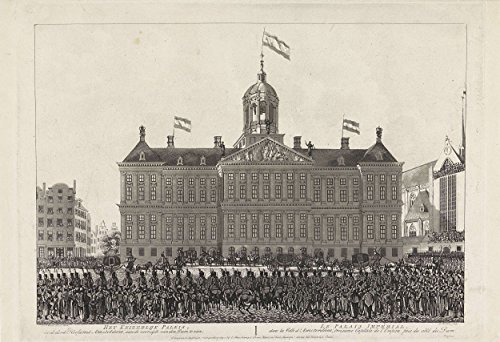 Classic Art Poster - Napoleon's arrival at the Royal Palace in Amsterdam, in 1811, Ludwig Gottlieb Portman, 1808 13 x 19