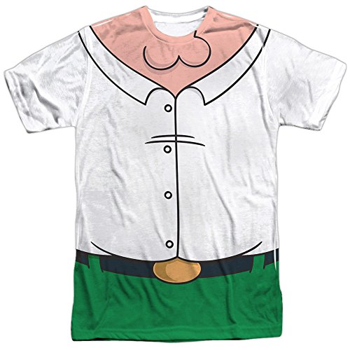 - Family Guy Adult Cartoon Comedy TVSeries Peter Costume Adult Front Print T-Shirt