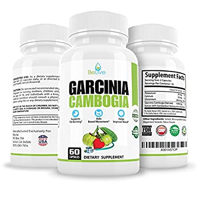 100% Pure Garcinia Cambogia Extract HCA Weight Loss for Women and Men. Best Appetite Suppressant & Carb Blocker. Natural, Dr Recommended, and Clinically Proven Supplement.