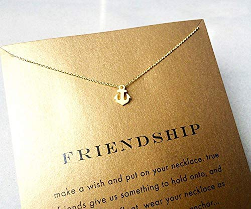 SEWEI Anchor Necklace Pendant Graduation Gift Anchor