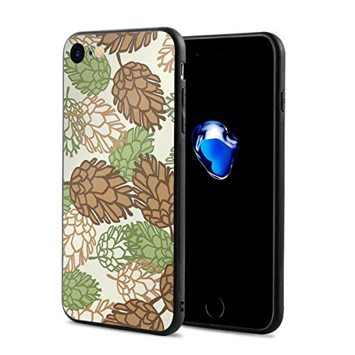 (WSXEDC iPhone 7/8 Case Stylized Pine Cones Full Protective Anti-Scratch Resistant Cover Case for Apple iPhone 7 and iPhone 8)