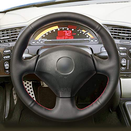 Amazon.com: MEWANT Hand Sewing Black Artificial Leather Steering Wheel Cover Wrap for Honda S2000 2000 2001 2002 2003 2004 2005 2006 2007 2008 Civic Si 2002 ...