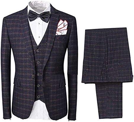 スーツ 3点セット チェック メンズ ビジネス ファッション 紳士服