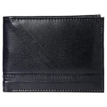 Goldedge Wallet for Men - Leather, Blue