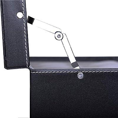 Caja para 12 Relojes con Dos Capas,Hecho de Vidrio y Cuero de la PU Joyería Soporte de Exhibición de Relojes Caja: Amazon.es: Hogar