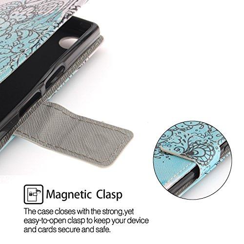 et Coque Portefeuille Housse Support Sony Carte avec Protecteur Cuir XZ1 Xperia Fentes S 12 PU Compact Luxe Lohpe Clapet pour Coque de a5Sqvv