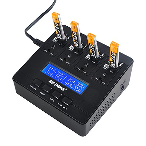 Price comparison product image EV-PEAK e6 1S LiPo Battery Charger 1A LiPo LiHV AC / DC Charger for JST MCPX MCX MOLEX Connectors Tiny Whoop Blade Inductrix
