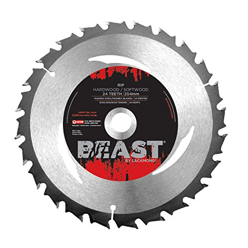 Lackmond Beast Rip Saw Blades - 12'' Hardwood/Softwood Cutting Tool with Heat Vents for Reduced Heat Build Up and Increased LifeSpan & 1'' Arbor - WRB12024 by Lackmond