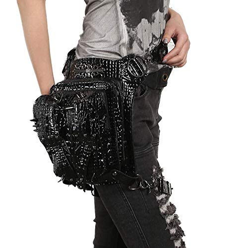 Women's bag messenger travel pockets fashion zhe Wei Black steampunk axzqF5f