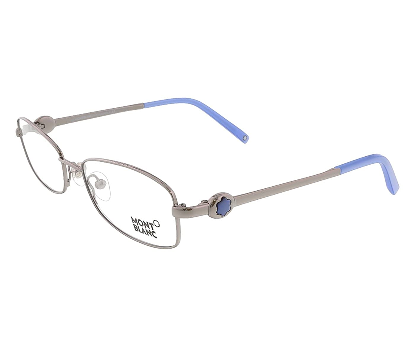 272a5384fe67 Mont Blanc eyeglasses frames Women s MB0395 014 Gunmetal silver Rectangular  53mm Eyeglasses  Amazon.co.uk  Clothing