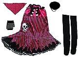 Fun World Rockin Skull Pirate Girls Costume & Eye Patch [121244 + NE43] (Size 2-8)