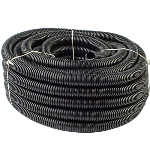 "225FWY 50 Ft 1/2"" 13mm Split Wire Loom Conduit Polyethylene Tubing Black Color Sleeve Tube"