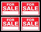 For Sale Sign 9 x 12 Inch - 4 Pack