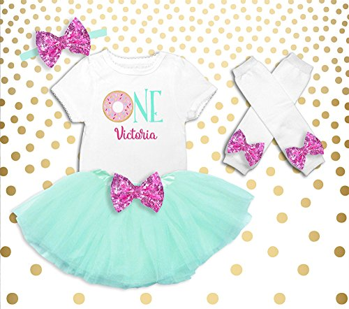 Girl's Donut Birthday Shirt Girl's Donut Birthday Outfit Donut 1st Birthday Outfit Donut 1st Birthday Shirt Donut Outfit Donut Birthday by Oliver and Olivia Apparel