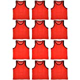 BlueDot Trading Youth 12 Orange sports pinnies-12 scrimmage training vests