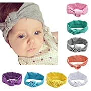 DANMY Baby Rabbit Ears Headband Cotton Cloth Elastic Hair Band Kink Toddler Soft Turban
