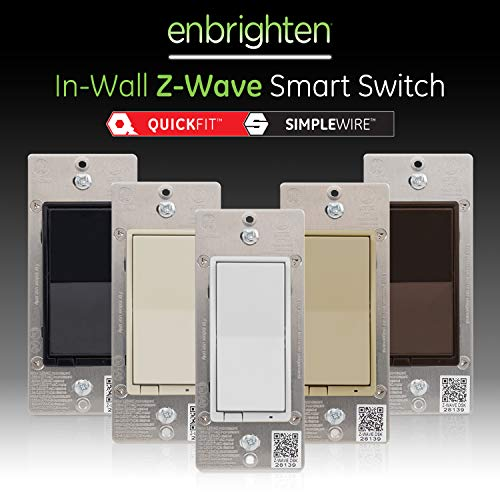 GE Enbrighten Z-Wave Plus Smart Switch with QuickFit and SimpleWire, In-Wall Paddle, Latest Version, Zwave Hub Required, Works with Ring Alarm, SmartThings, Wink, Alexa, 46201