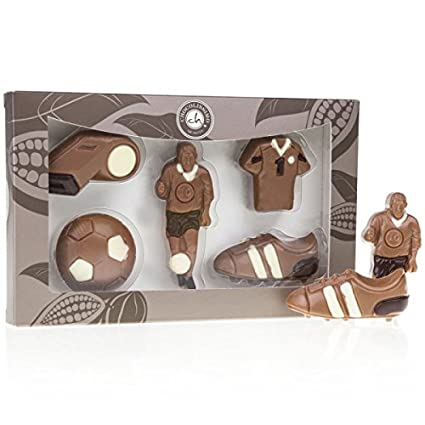 Schokoladen Fussballer Set Vollmilchschokolade Aus Schokolade Premium Qualitat Schoko Fussball Set Geschenk Fur Fussball Fans