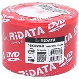 Ritek Ridata White Inkjet Hub Printable 16X DVD-R Media 50 Pack in Plastic Wrap (DRD-4716-RDIW50N)