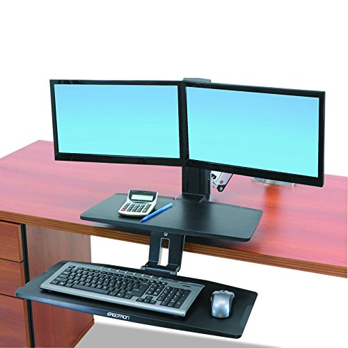 Ergotron WorkFit-A Keyboard, Dual HD