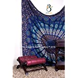 Tapestry Queen Beautiful Hippie Mandala Bohemian Peacock Bedding Indian Bedspread Tapestries 92x82 Inches Aakriti Gallery