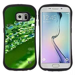 "Hypernova Slim Fit Dual Barniz Protector Caso Case Funda Para Samsung Galaxy S6 EDGE [Verde Agua Hoja Gota""]"