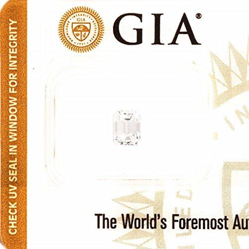 GIA Emerald cut 0.77ct E Color SI1 Sealed Loose Natural Earth Diamond (Ct Cut 0.77 Diamond Emerald)