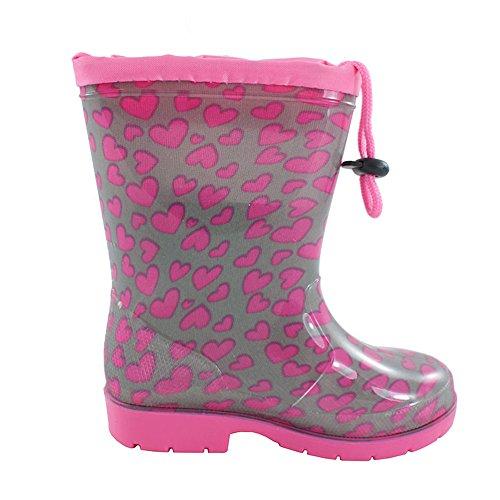 Kinder Regenstiefel Schuhe Gummistiefel Schuheinlage für Mädchen (1477)